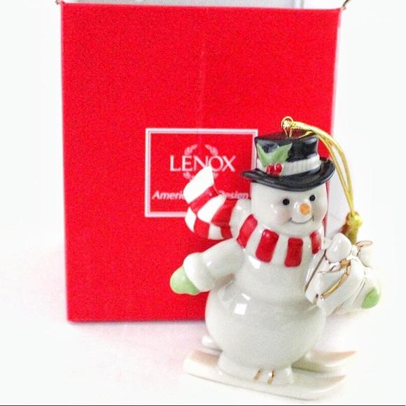 Lenox Holiday Nib Lenox Skiing Snowman Ornament Poshmark